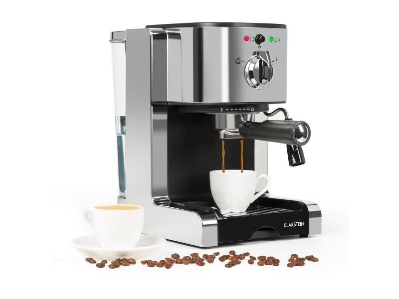 Klarstein passionata 20 machine à café et expresso 6 tasses - 20 bar - 1350w - argent
