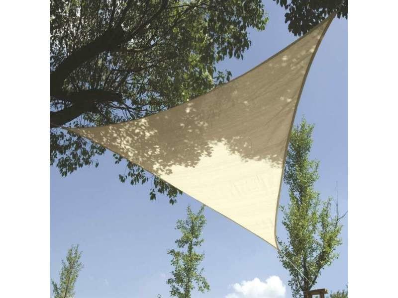 Voile d\'ombrage triangle 3,6 m crème 3,6 m - Vente de Parasol ...