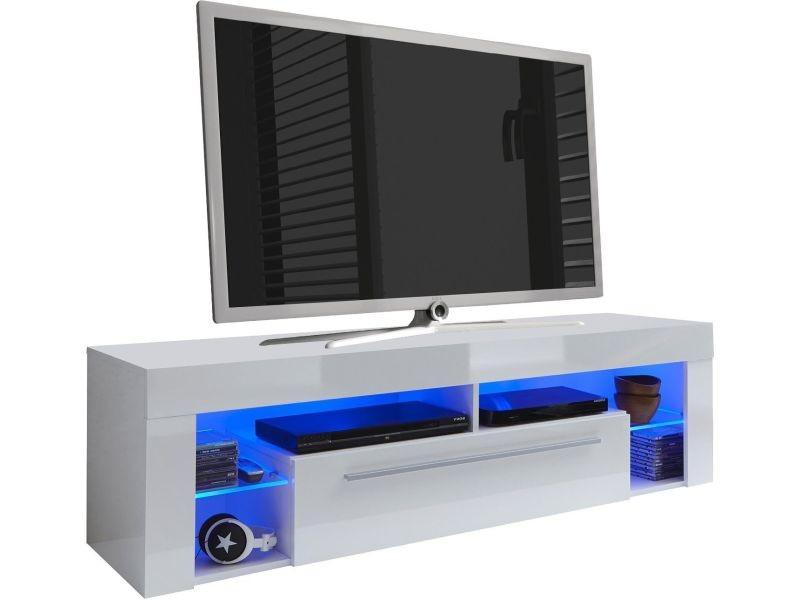 Meuble Tv Design 153 Cm Avec 1 Tiroir Et 4 Niches Ouvertes Avec