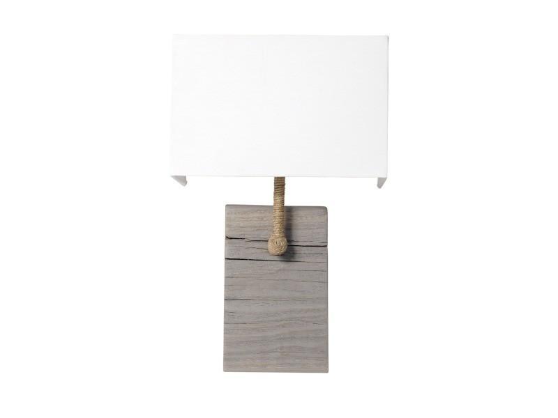 La Applique Murale Bois Et Fabriquée Lampe Cordage Vieilli En À yNO80wvmPn