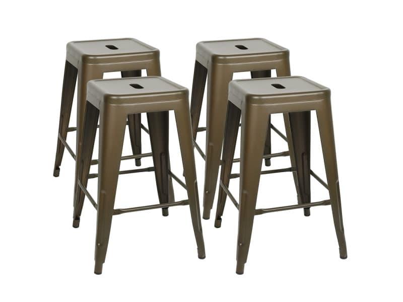 4pcs tabourets de bar,chaises de bar hombuy style simple pour cuisine/ jardin/ bistrot etc.