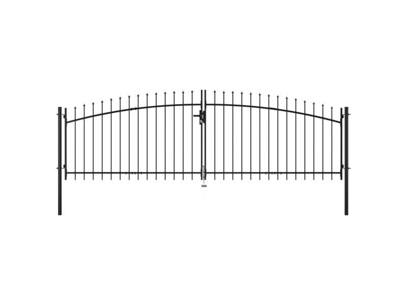 Chic clôtures et barrières famille abou dabi double portail avec haut sous forme de lance 400 x 200 cm