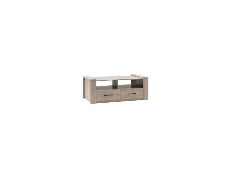 Ernest table basse style contemporain decor chene grise - l 130 x l 65 cm