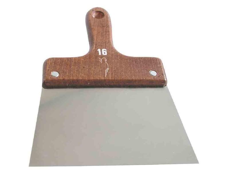 Outibat - couteau à enduire inox - manche bois 12 cm BD-210207