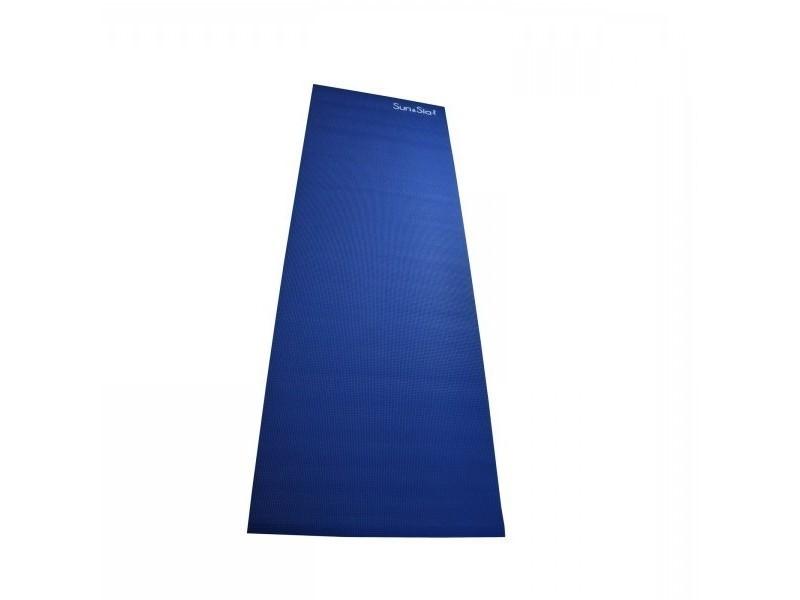 Tapis de yoga bleu - accessoire de fitness