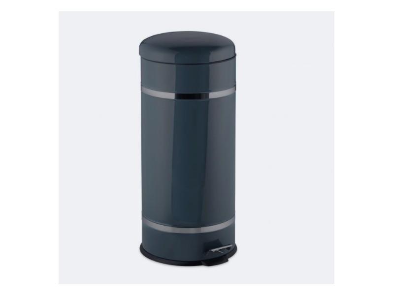 Poubelle à pédale acier inoxydable seau intérieur 30 litres gris helloshop26 13_0002317