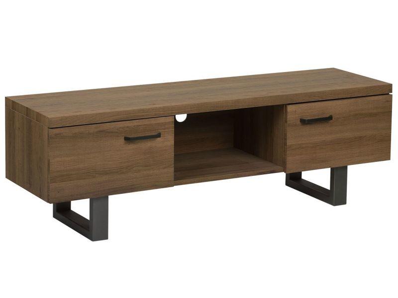 Meuble tv en bois foncé timber 181310