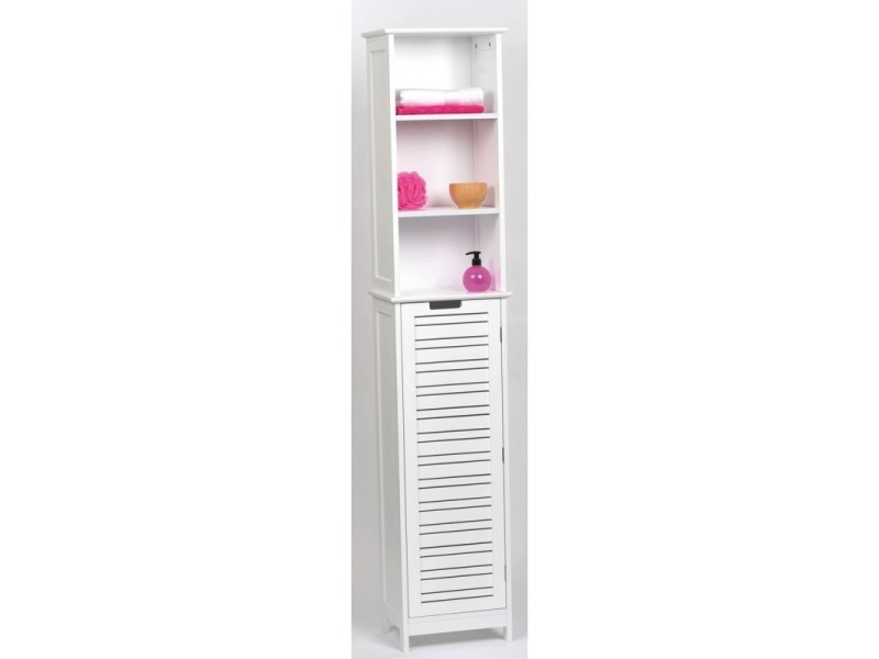 colonne salle de bain blanche miami vente de armoire. Black Bedroom Furniture Sets. Home Design Ideas
