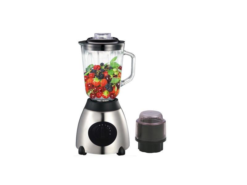 Blender inox verre + moulin a cafe herzberg - hg-5009gl