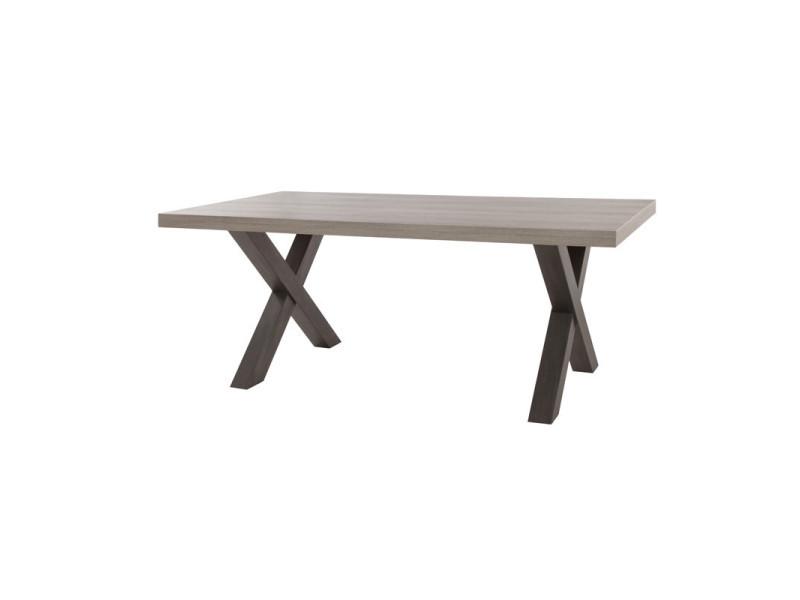 Table de repas 160 cm - mamba - l 160 x l 102 x h 75 - neuf