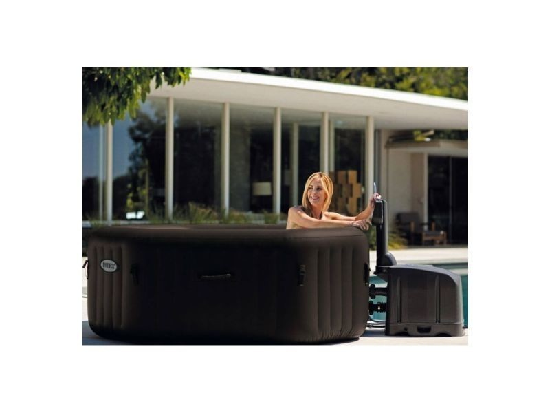 spa gonflable purespa octogonal bulles jets 4 places intex vente de intex conforama. Black Bedroom Furniture Sets. Home Design Ideas