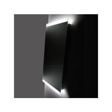 Miroir salle de bain - éclairage led - antibuée - 50x110 cm - lignum ...