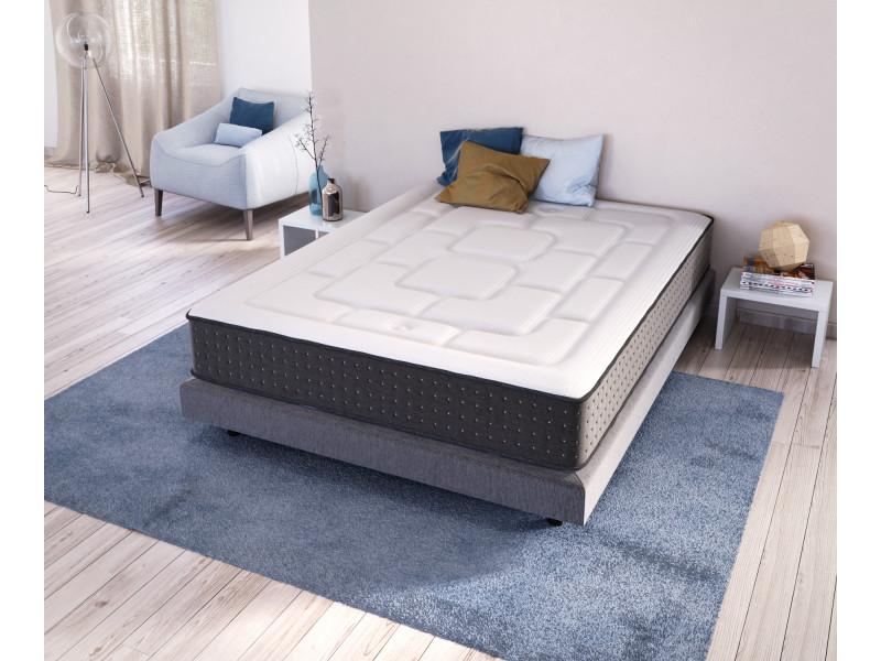 olympe ensemble matelas lit sirrinos 90x190 sommier pieds vente de olympe literie conforama. Black Bedroom Furniture Sets. Home Design Ideas