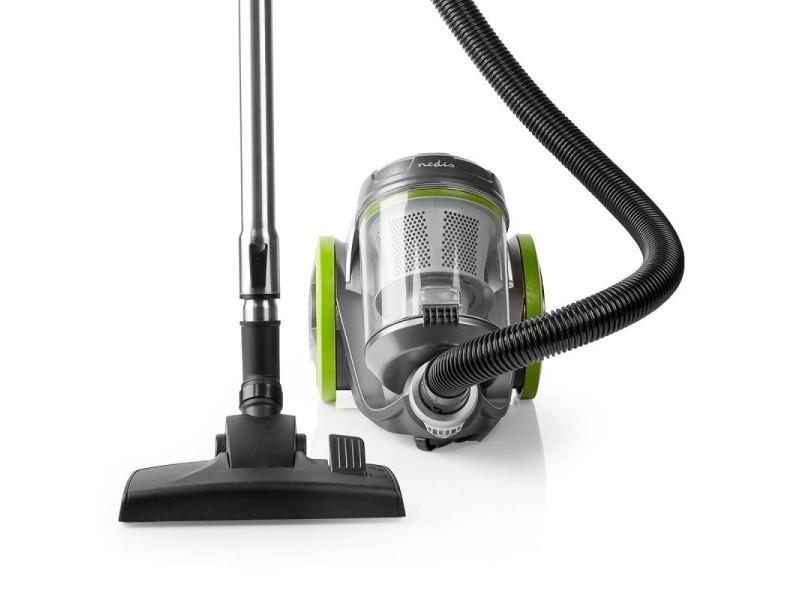 Aspirateur sans sac vert réservoir 3.5l 700 w classe acaa filtre hepa 12 rayon d'action 8m