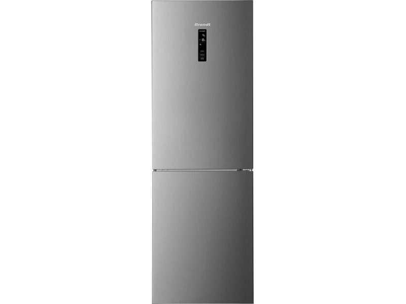 Réfrigérateur combiné 315l froid ventilé brandt 60cm a++, bfc8632nx