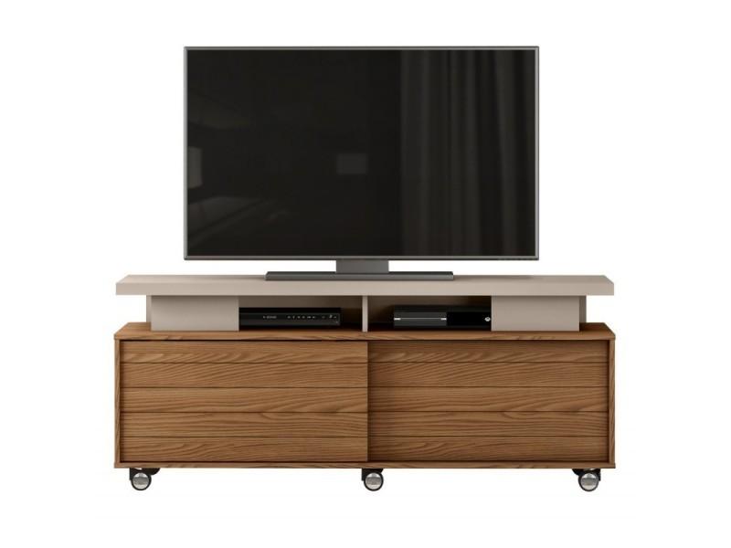 Meuble tv 150 cm 60 pouces chêne et taupe