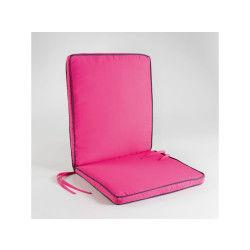 Coussin de fauteuil 90x42x5cm bicolore garden framboise/anthracite