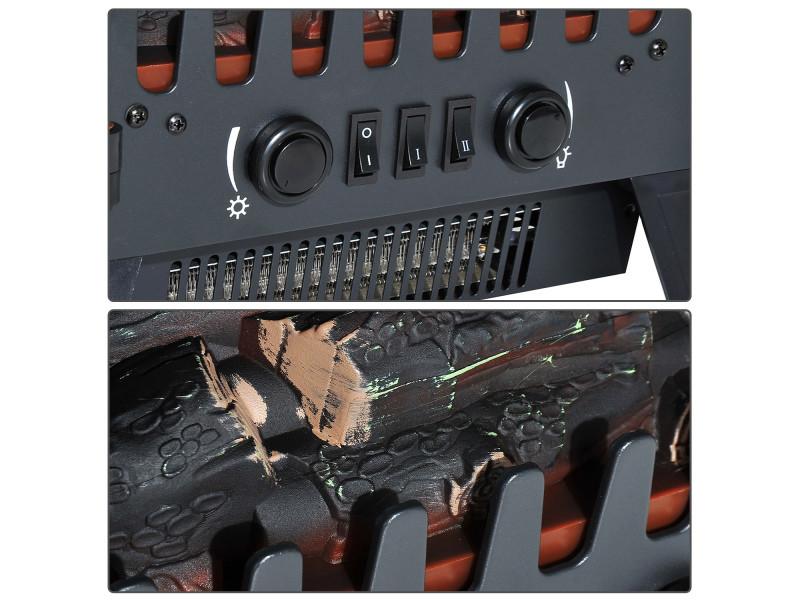 chemin e lectrique radiateur imitation flamme avec luminosit et r glable 900 w 1800 w porte. Black Bedroom Furniture Sets. Home Design Ideas