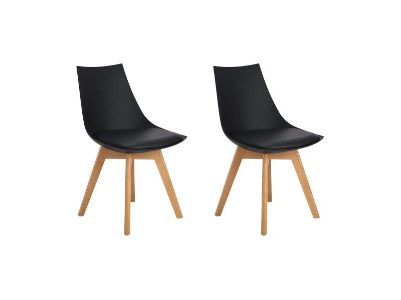 Lot de 2 rétro chaise salle à manger design scandinave, chaises de ...