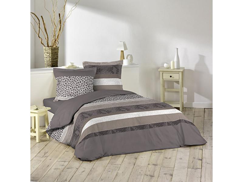 housse de couette serpentine 220x240 et 2 taies d 39 oreiller 100 coton vente de doucceur d. Black Bedroom Furniture Sets. Home Design Ideas