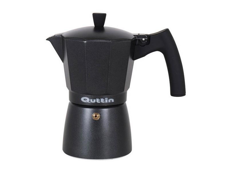 Cafetières chic capacité 12 tasses cafetière italienne quttin darkblack induction noir