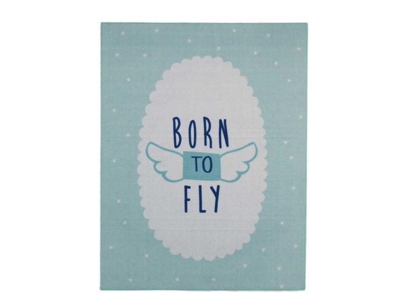 Tapis chambre born to fly md bleu 95 x 125 cm tapis pour ...