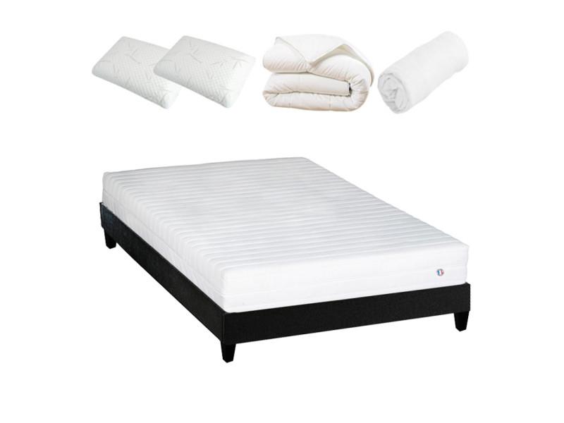Olympe literie | pack prêt à dormir egio 160x200 cm | matelas latex like + sommier + accessoires 4BA.GA.K15.K.1620