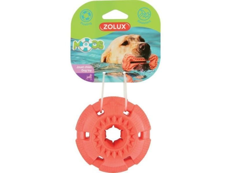 Balle - frisbee jouet flottant balle - 9,5 x 9,5 x 5,5 cm - orange - pour chien