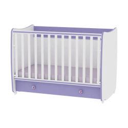 Lit bébé évolutif combiné transformable dream 60x120 violet
