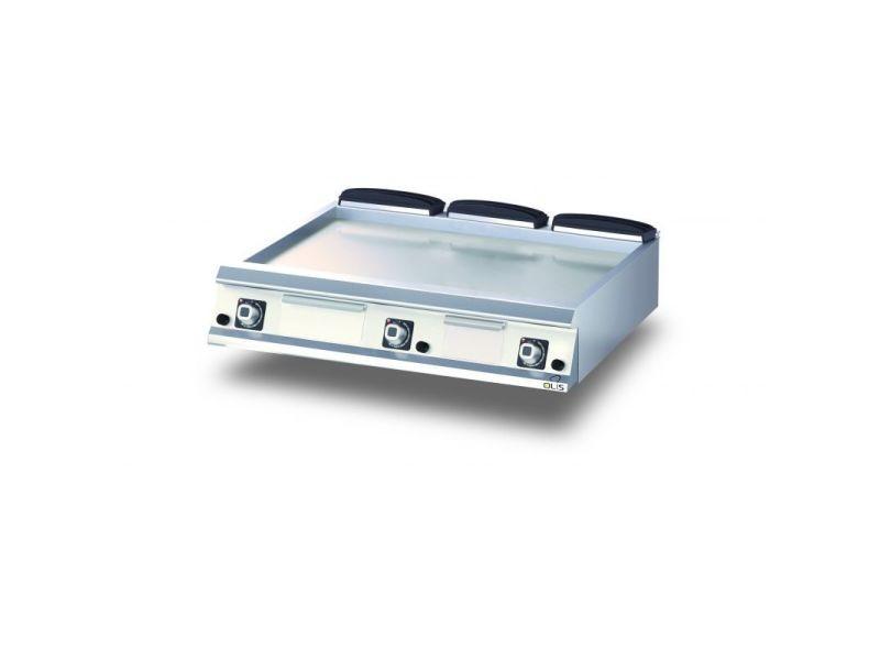 Plancha gaz lisse aisi 430 diamante 90 - 400 à 1200 mm - olis - acier 1200 mm
