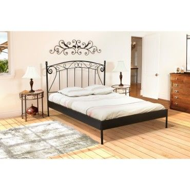 lit 2 personnes 160x200 cm romance noir avec sommier. Black Bedroom Furniture Sets. Home Design Ideas