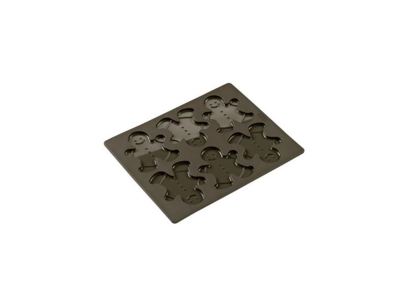 Lurch moule a biscuit de noël - silicone - 24 x 30 cm - marron