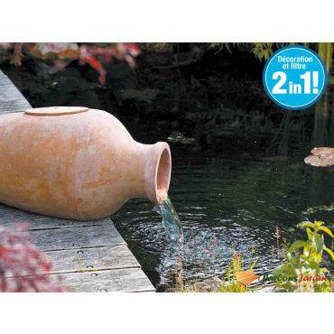 Fontaine de jardin en terracotta aquaarte amphora filtre
