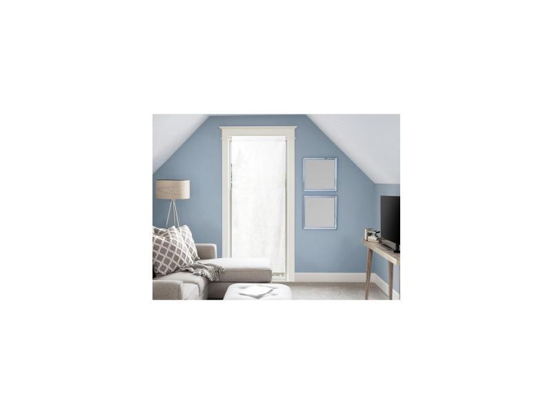 Voile pour porte fenêtre en coton 90x200 cm panama blanc