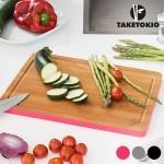 Planche de cuisine rectangulaire en bambou taketokio