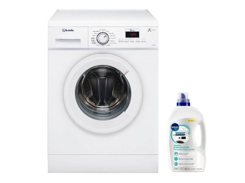 Lave-linge frontal 7kg a+++ 1200trs/min 16 programmes machine à laver hublot