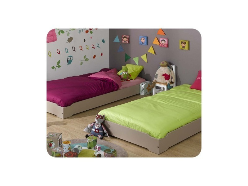 lit enfant empilable 90x190 cm avec sommier vente de ma. Black Bedroom Furniture Sets. Home Design Ideas