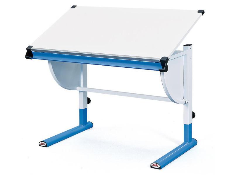 Bureau Coloris Blanc Bleu En Panneaux De Particules