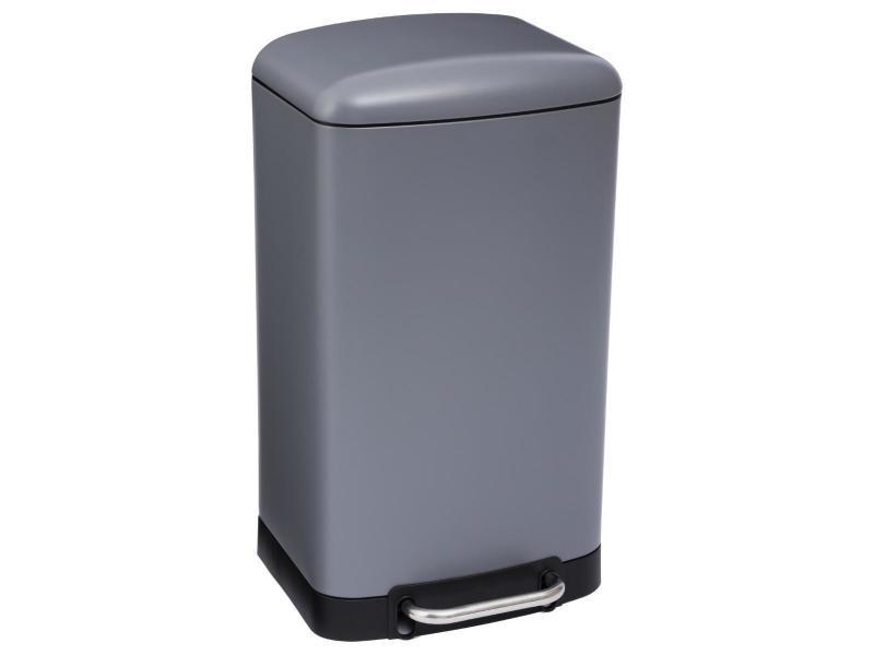 Five - poubelle 30 l en métal anthracite ouverture à pédale