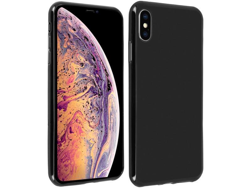 coque iphone xs silicone brillante