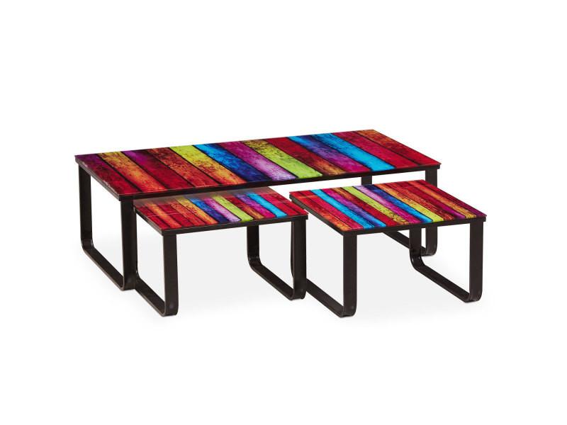 table basse gigogne lilou rainbow vente de menzzo conforama. Black Bedroom Furniture Sets. Home Design Ideas