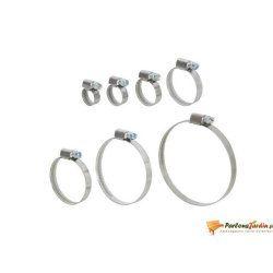 Lot de 2 colliers de serrage inox largeur 9mm ø12-20mm