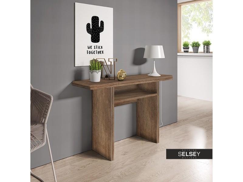 Table Selsey Extensible – France Venise Chêne Foncé Console kZiuOPX