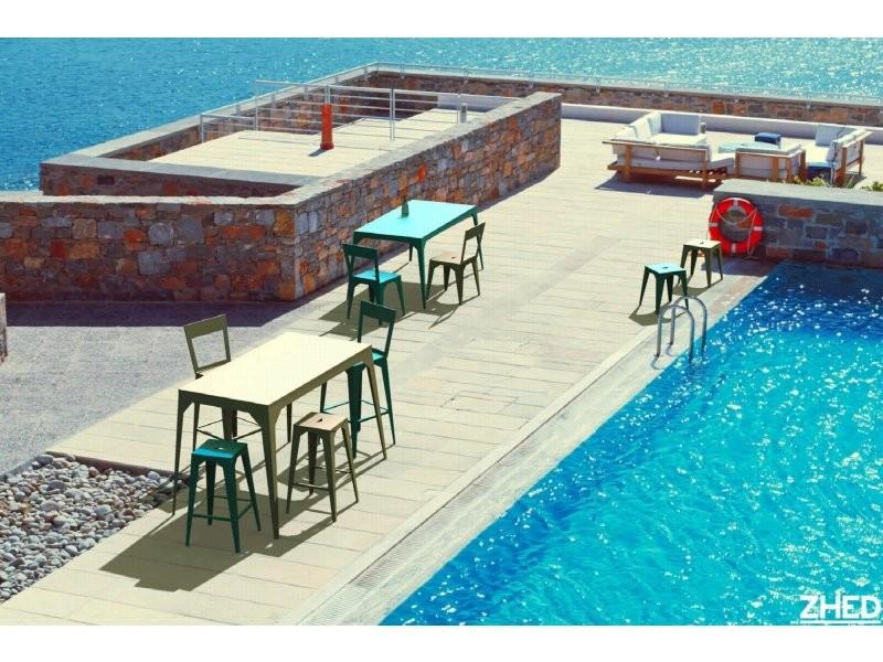 Table cuatro rouge coquelicot Ta_CUA_Rect160x80_h75_Coq