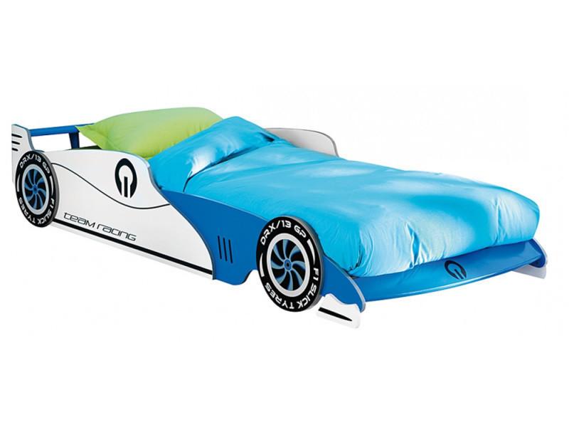 lit voiture enfant bleu sommier inclu 209 x 405 x 1015 cm pegane vente de lit enfant conforama - Lit Voiture Enfant