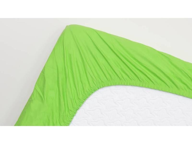 Snoozing - coton - drap-housse - 140x220 cm - lime SMUL102154712