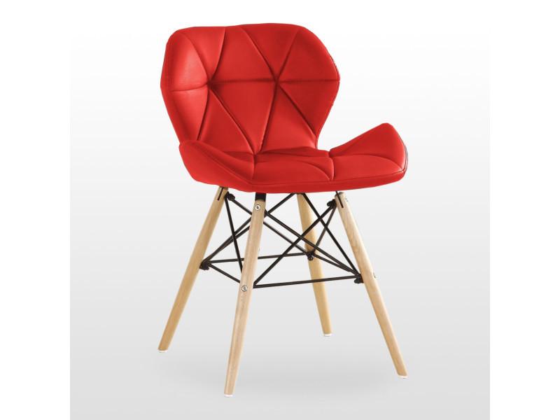Chaise design en simili cuir rouge - cecilia eiffel