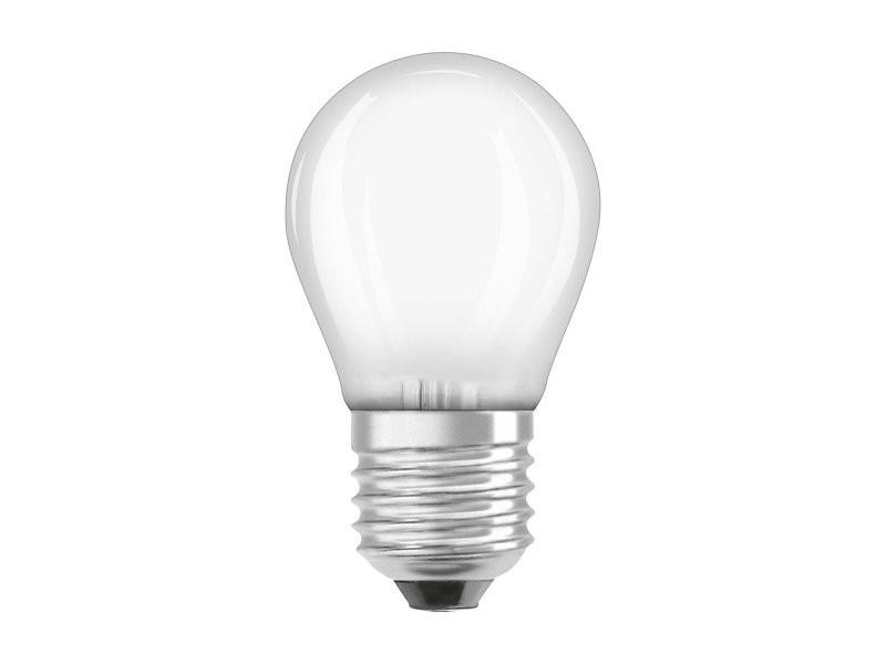 Ampoule osram led à filament dépolie | culot e27 | forme sphérique | blanc chaud 2700k | 6w (équivalent 60w)