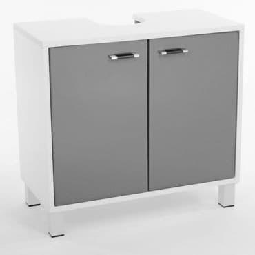 Meuble bas de salle de bain gris conforama for Meuble bas salle de bain gris