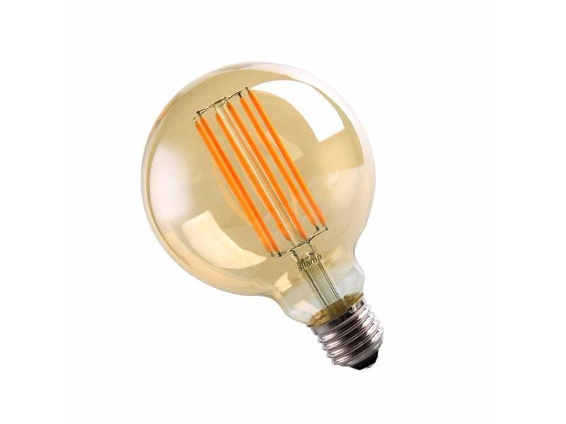Ampoule e27 led filament 6w 220v cob g95 360° globe fumé - blanc chaud 2300k - 3500k